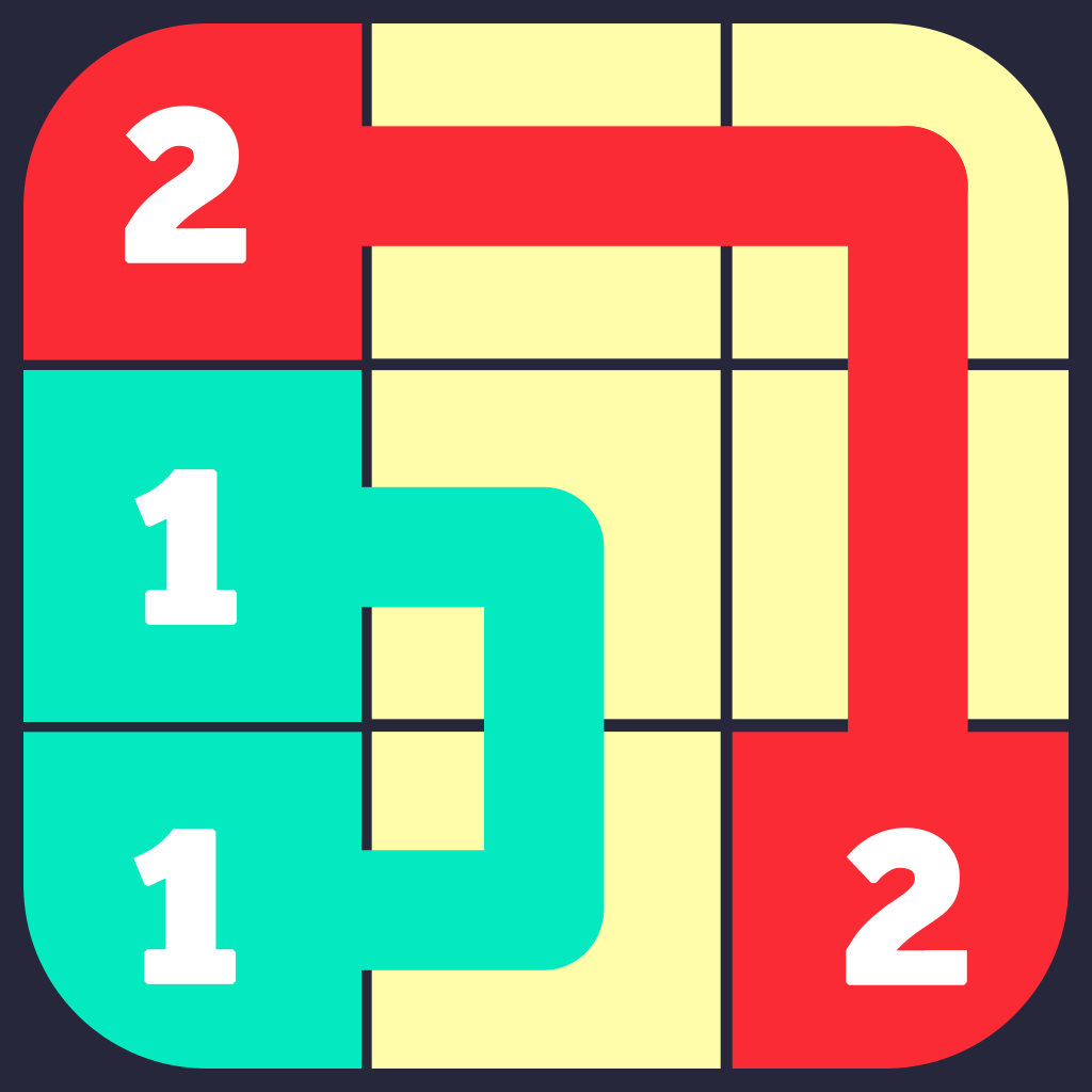 A+ Number Link Free - Logic Path Flow Mania Game App